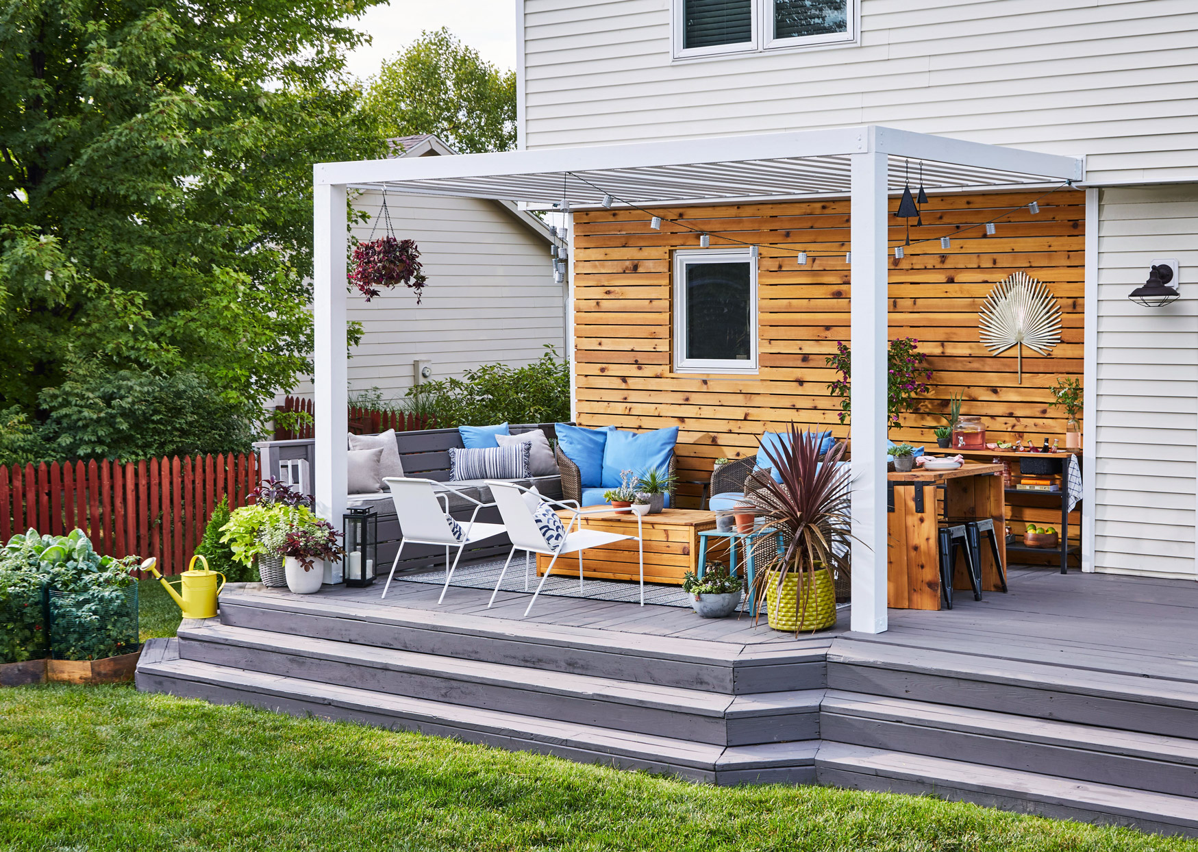 attached pergola ideas to boost shade