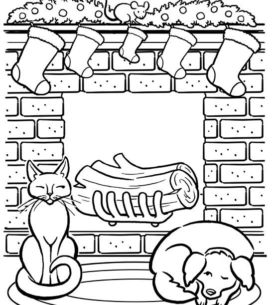 printable holiday coloring pages # 52