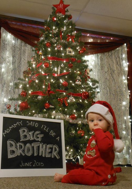 27 christmas baby announcement