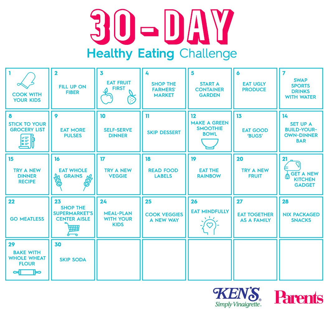 The 30 Day Healthy Eating Challenge