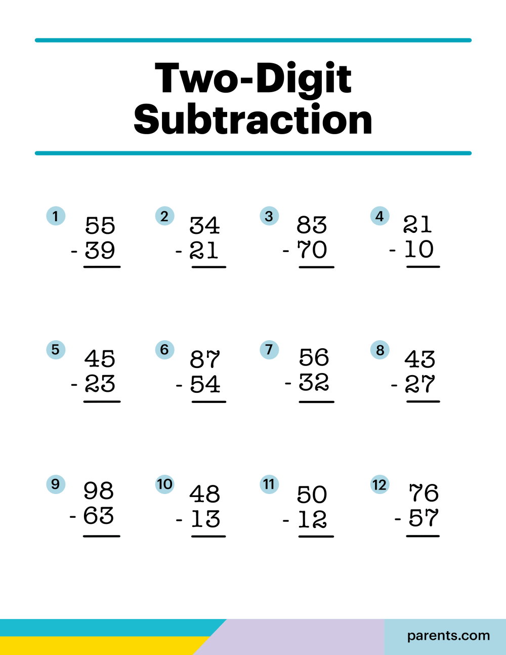 medium resolution of 8 Subtraction Worksheets for First Through Third Graders   Parents