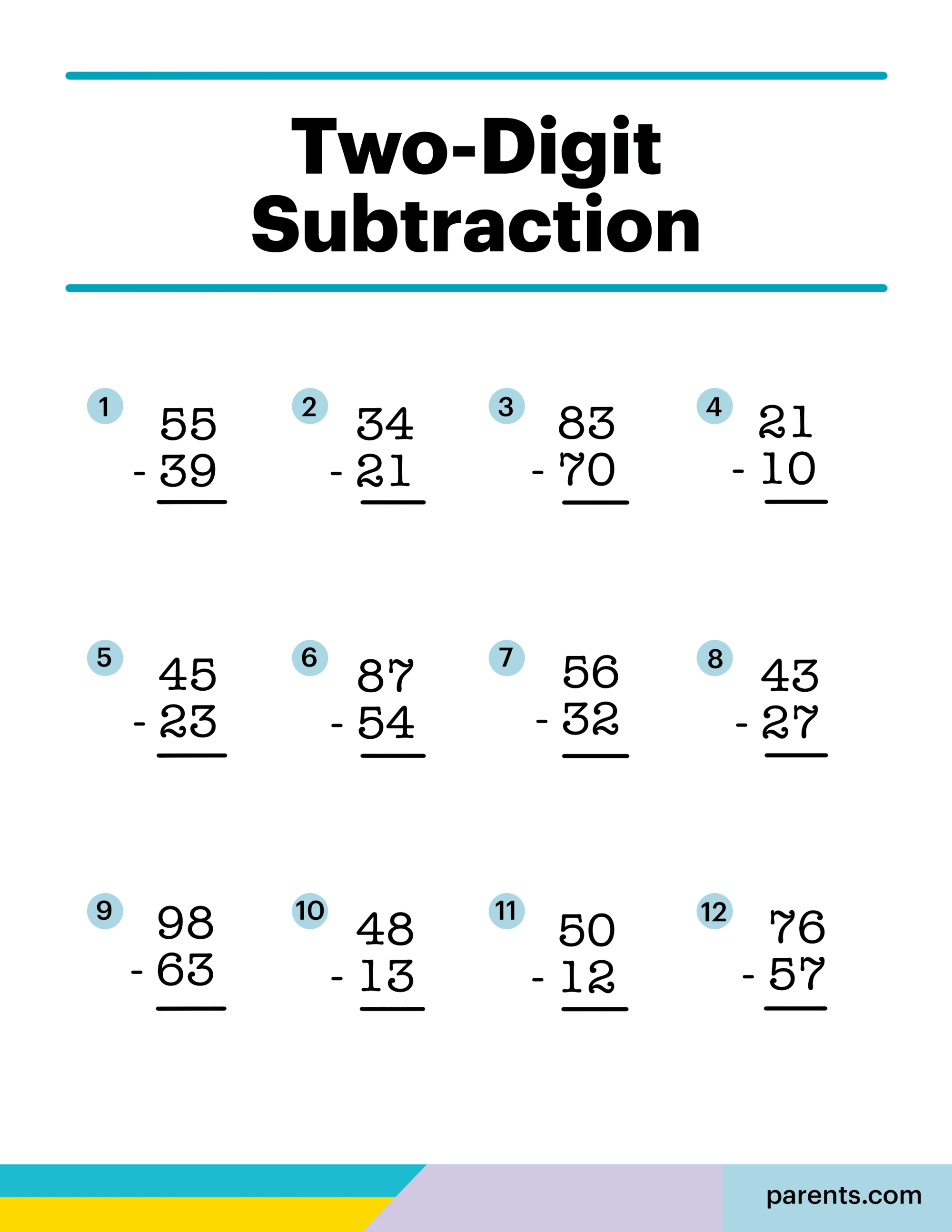 hight resolution of 8 Subtraction Worksheets for First Through Third Graders   Parents