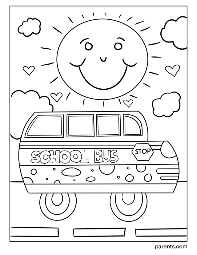25 Printable Back-to-School Coloring Pages for Kids  Parents