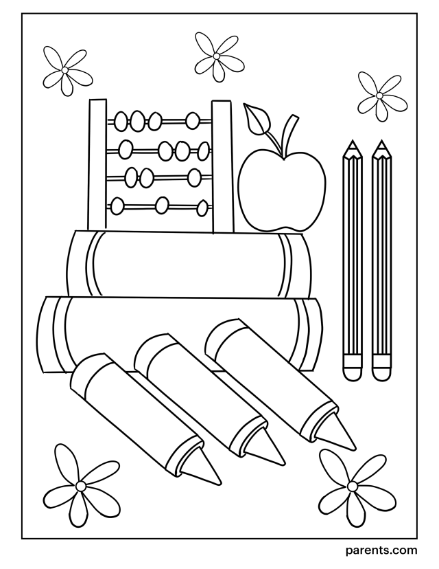 28 Printable Back-to-School Coloring Pages for Kids  Parents