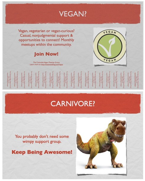 Funny Sign - Vegan vs Carnivore