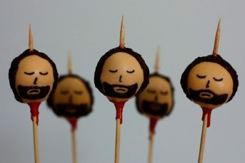 Head on a Cake Pop