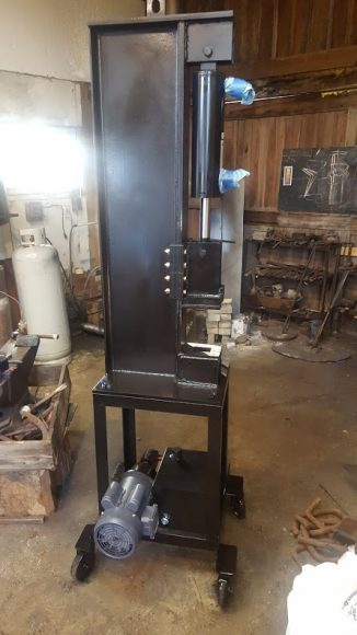 Forging Press assembled and painted