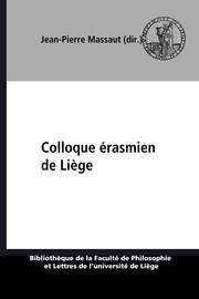 Pres De Liege 3 Lettres : liege, lettres, Colloque, érasmien, Liège, Érasme, Belles-lettres, Presses, Universitaires