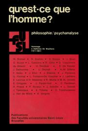 Qu'est Ce Que La Psychologie : qu'est, psychologie, Qu'est-ce, L'homme, L'objet, Psychologie, Presses, L'Université, Saint-Louis
