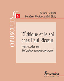 Soi Même Comme Un Autre : même, comme, autre, L'Éthique, Ricœur, Introduction, Presses, Universitaires, Septentrion