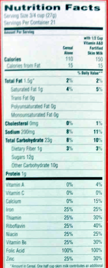 Cap N Crunch Nutrition Label : crunch, nutrition, label, Cap'n, Crunch, Sweetened, Cereal, Ounce, Paper