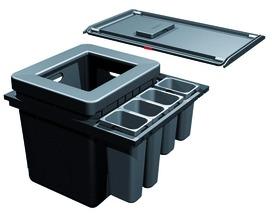 Sistema rifiuti FRANKESorter Serie 350 H Varia per BLUM