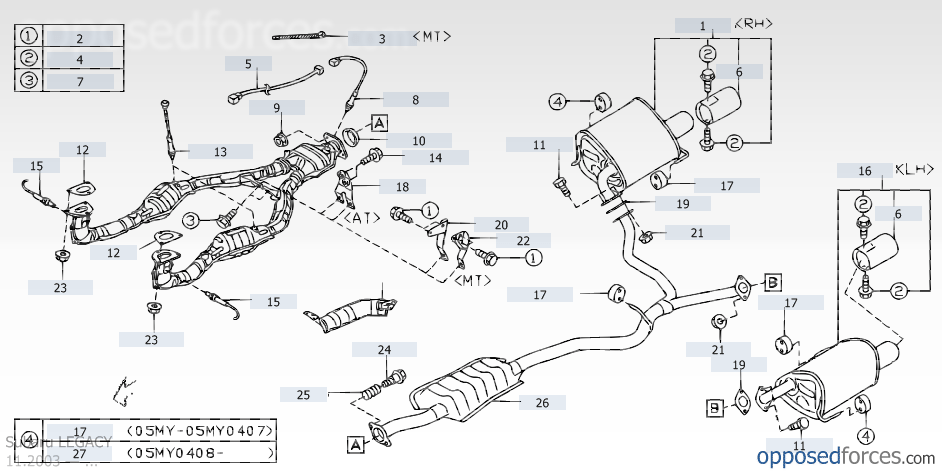2004 subaru outback exhaust system diagram kia rio wiring stereo snow buildup around pipes - page 2 forums