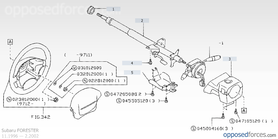 Service manual [Remove 1997 Subaru Impreza Steering Column