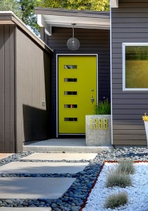 Modern Yellow Front Door