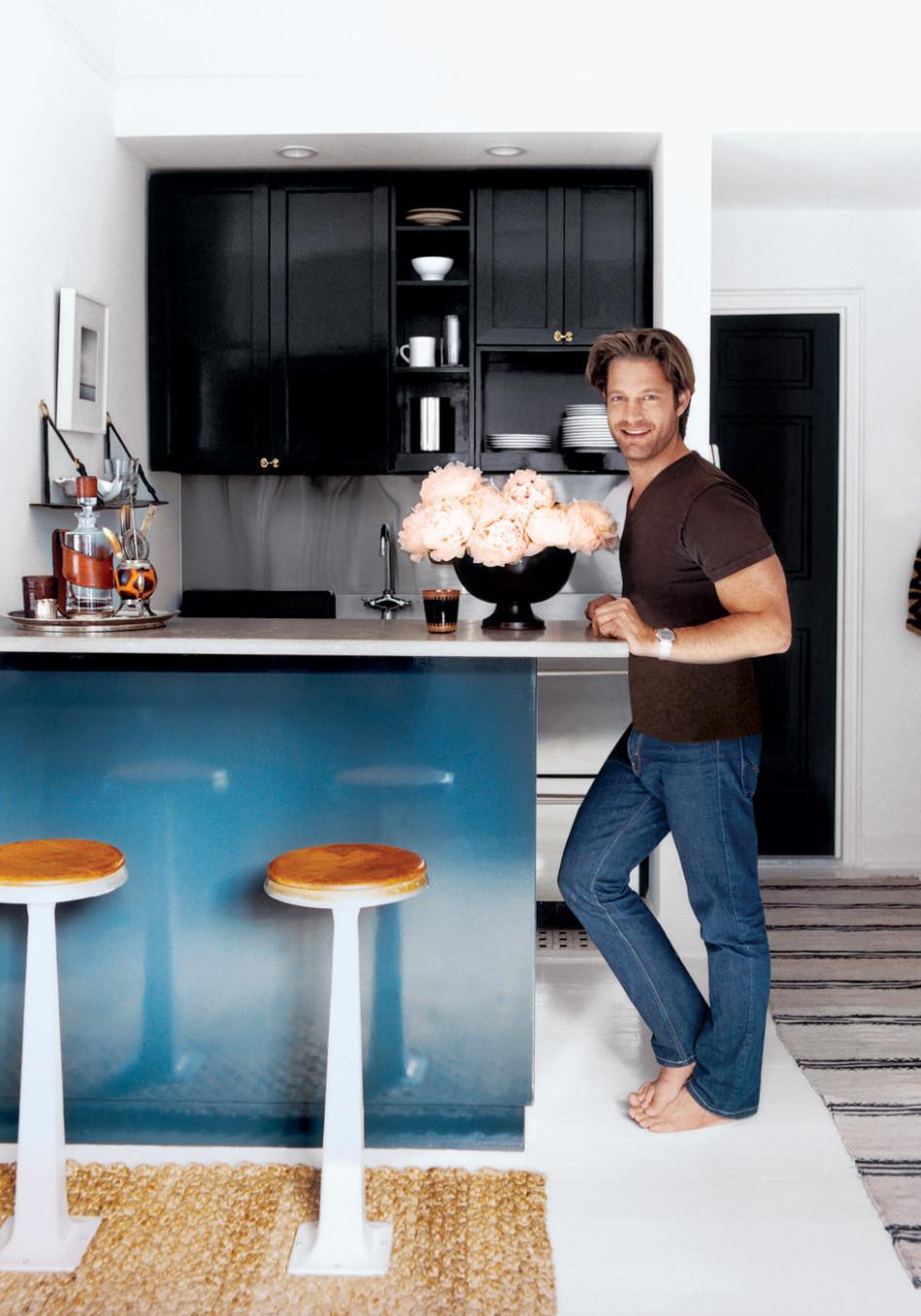 stainless steel kitchen table cabinet patterns nate berkus's manhattan transfer