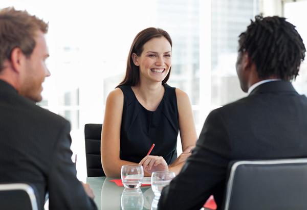 Woman at a meeting