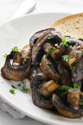 Crostini with wild mushrooms