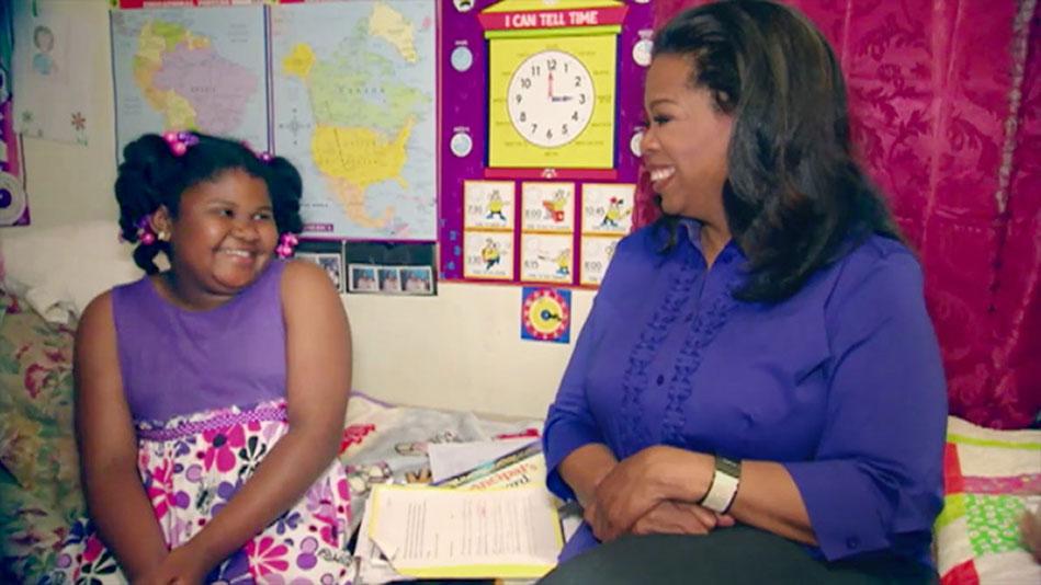 Oprah Meets Shaquan Duleys Daughter Saniya  Video
