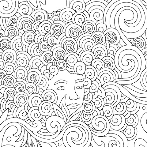 Andrea Pippins Hair Coloring Book