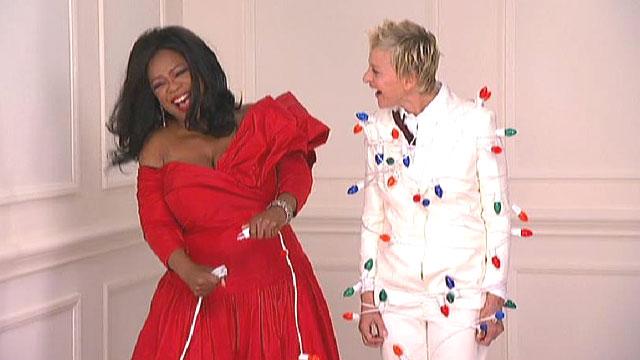 Ellen DeGeneres and Oprahs Magazine Cover Shoot  Video