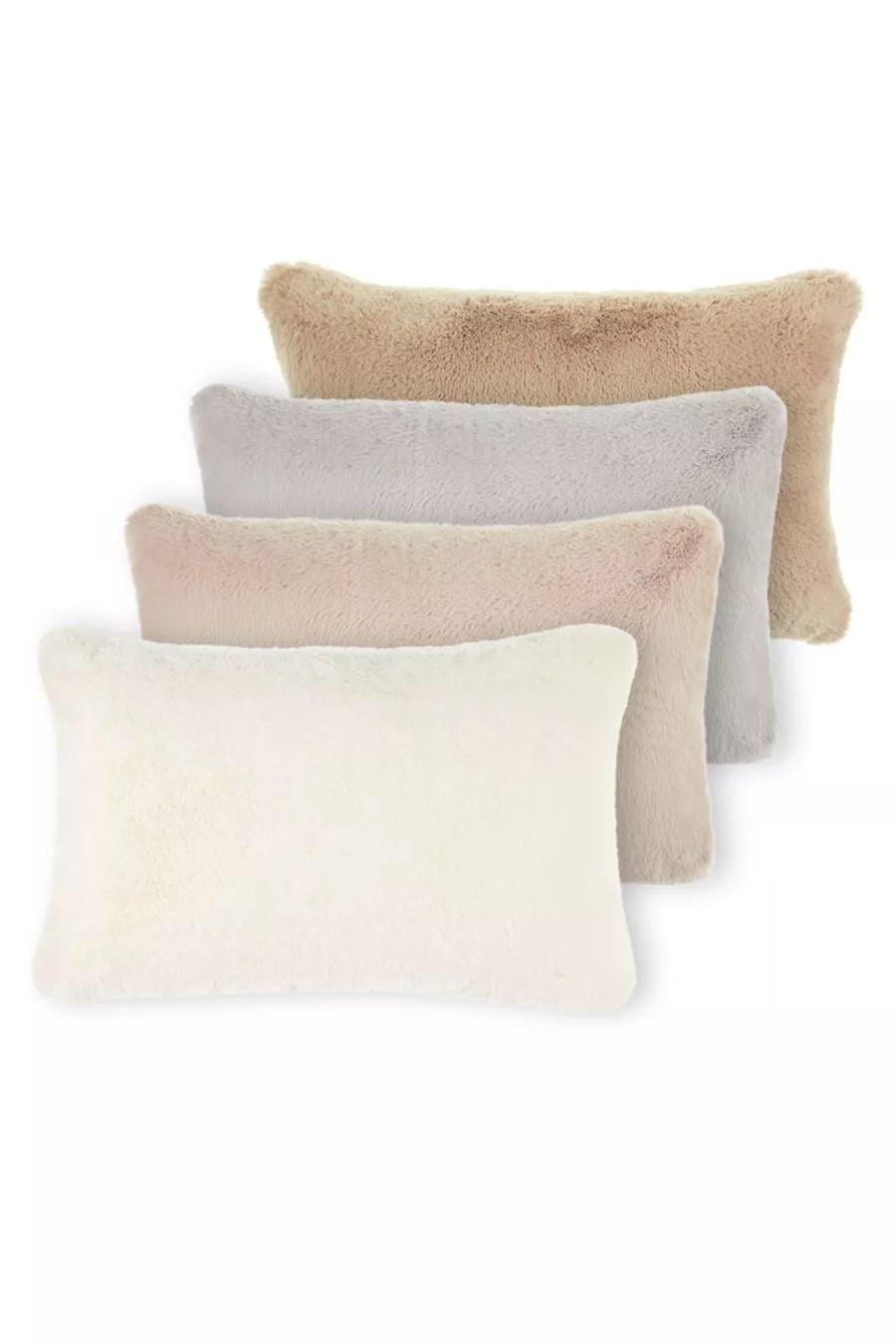 big rabbit faux fur lumbar pillow by magaschoni