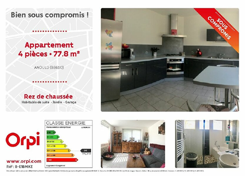 Appartement Anould 778 m T4  vendre 82 500   Orpi