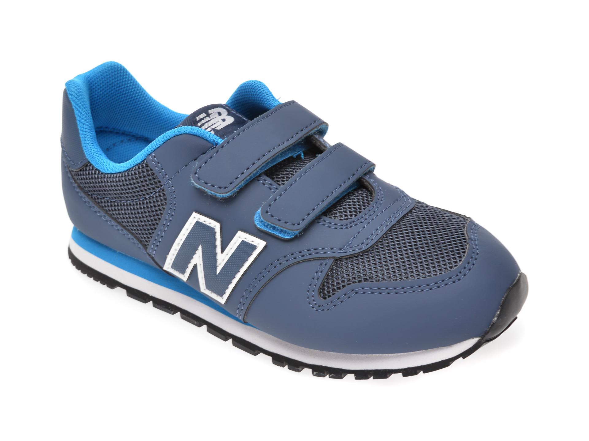 Pantofi sport NEW BALANCE bleumarin, YV500, din piele ecologica