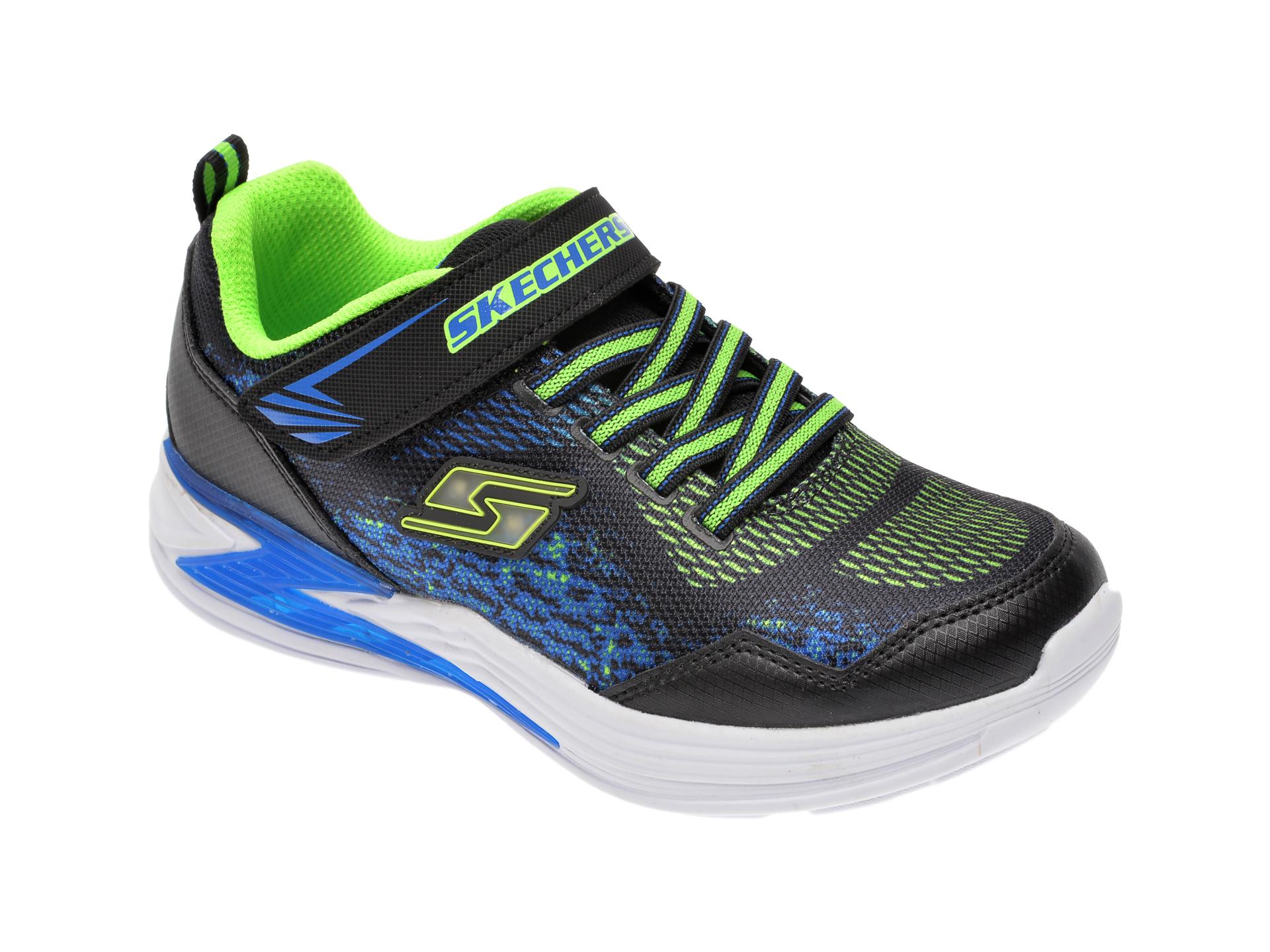 Pantofi sport SKECHERS negri, Erupters Iii Derlo, din material textil