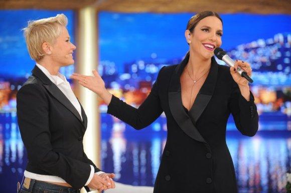Ivete Sangalo no programa de Xuxa (Foto: Divulgação/RecordTV)