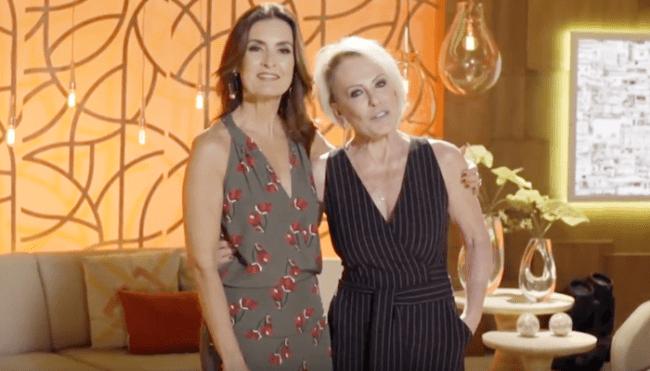 Fátima Bernardes e Ana Maria Braga (Foto: Reprodução/Globo)
