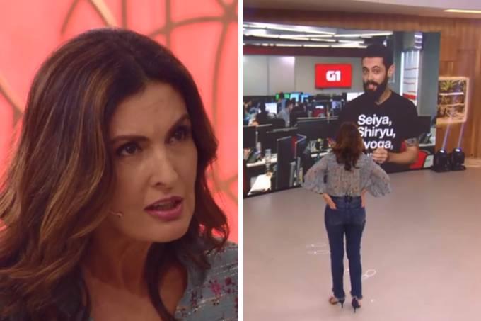 Fátima Bernardes erra ao vivo (Reprodução/TV Globo/Veja SP)