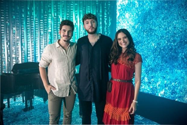 Nicolas Prattes, James Arthur e Juliana Paiva (Foto: Globo/Isabella Pinheiro)