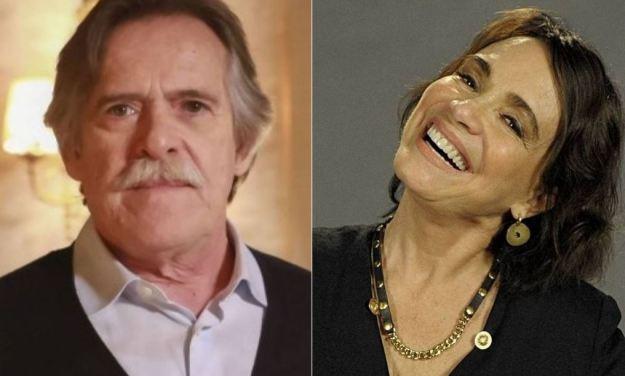 José de Abreu e Regina Duarte (Foto: Montagem)
