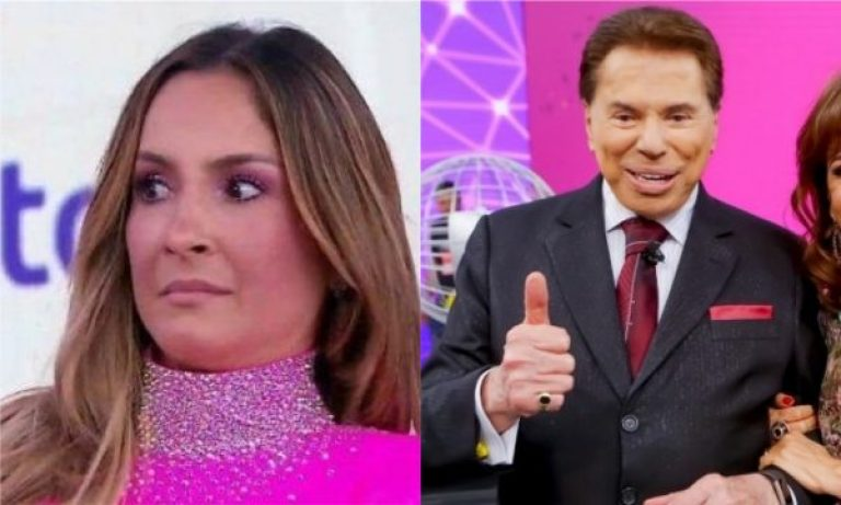 Silvio Santos e Claudia Leitte no Teleton (Foto: Reprodução)