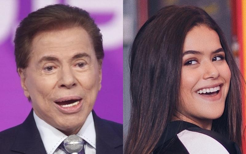 Silvio Santos e Maisa Silva (Foto: Reprodução)