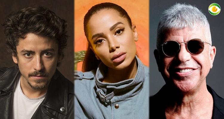 Anitta, Jesuita Barbosa e Lulu Santos artistas brasileiros corajosos