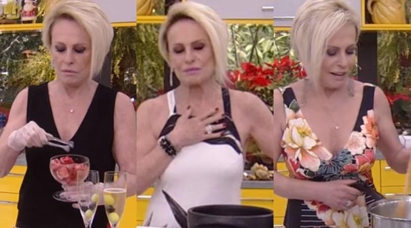 Ana Maria Braga e seus insetos na Globo (Foto: Reprodução)