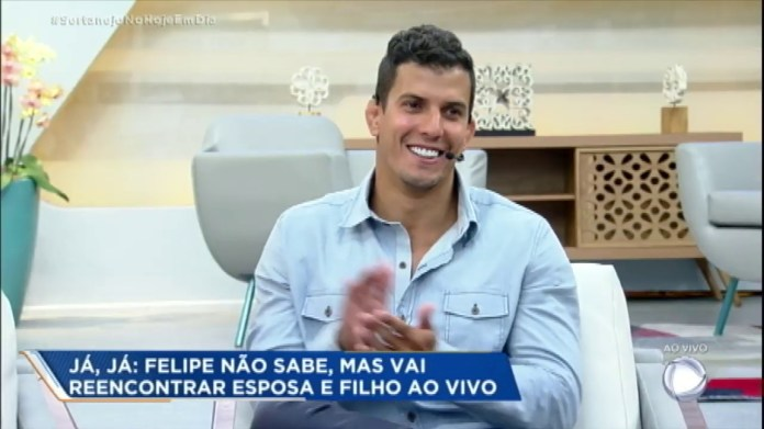 Felipe Sertanejo, eliminado de A Fazenda, no Hoje em Dia (Foto: Reprodução)