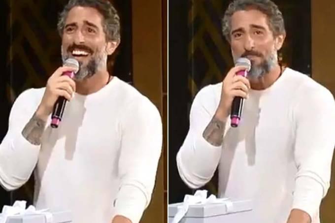 Marcos Mion surpreendeu ao dar presentes para jornalista da Record (Reprodução/Veja SP)