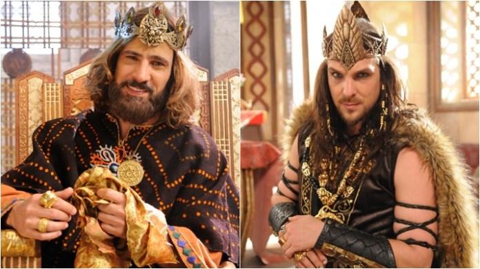 Rei Davi e O Rico e Lázaro foram destaques da Record na TV hispânica em 2018. (Foto: Montagem/Reprodução)