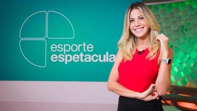 Bárbara Coelho no Esporte Espetacular (Foto: João Cotta/Globo/ Divulgação)