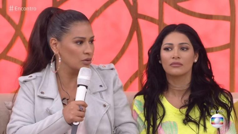 Simone e Simaria no Encontro com Fátima Bernardes na Globo (Foto reprodução: Globo)