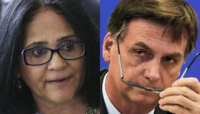 Damares e Bolsonaro (Foto: Reprodução)