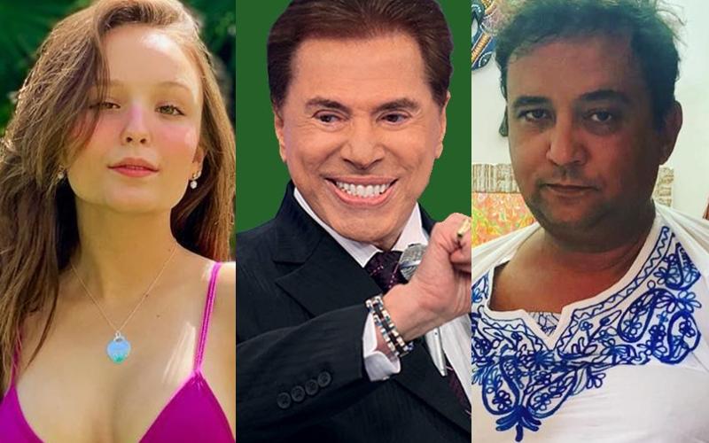 Larissa Manoela, Silvio Santos e Geraldo Luís (Foto: Reprodução)