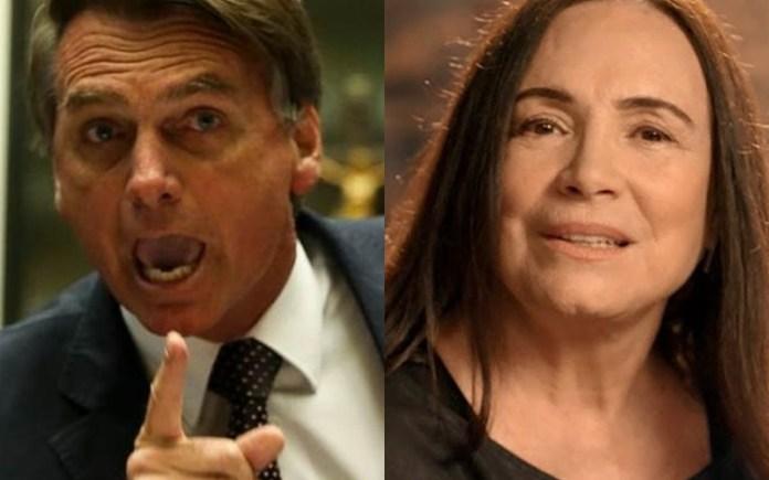 Jair Bolsonaro e Regina Duarte (Foto: Reprodução)