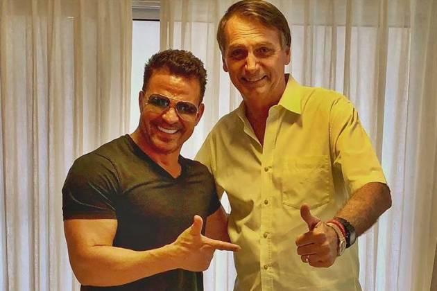 Eduardo Costa ao lado do presidente Jair Bolsonaro (Foto: Reprodução)