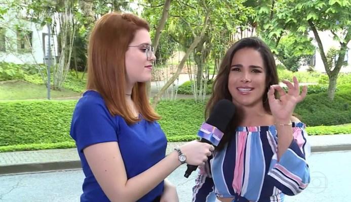 Wanessa Camargo falou sobre o casamento e paqueras em papo com Ana Clara, no 'Vídeo Show' — Foto: TV Globo