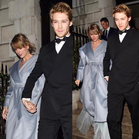 Taylor Swift ao lado de seu namorado, o ator britânico Joe Alwyn. (Foto: Reprodução/Instagram)