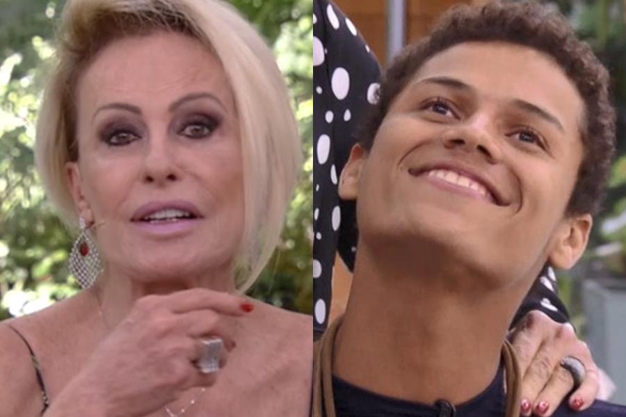 Ana Maria Braga e Danrley na Globo (Foto: Reprodução)